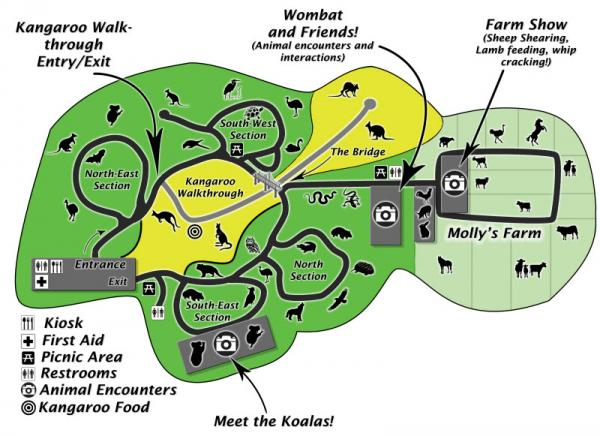 caversham wildlife park map of the park